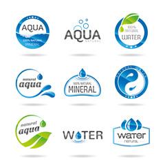 Water design elements & icon-Illustration