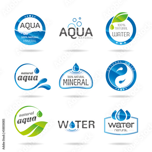 Water design elements & icon-Illustration