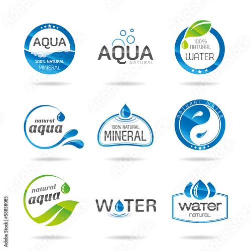Fototapeta Water design elements & icon-Illustration