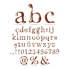 Chocolate Alphabet Lower Case