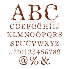 Chocolate Alphabet Upper Case