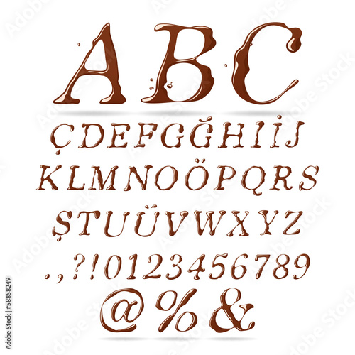 Chocolate Alphabet Upper Case Italic