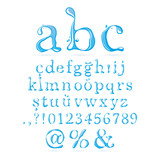 Water alphabet Lower Case Italic