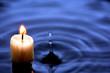 Leinwandbild Motiv Candle In Water