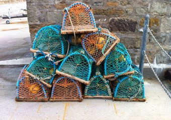 lobster pots on harbour