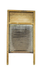 Antique Laundry Wash Board Isolated