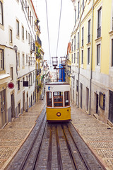 Bica tram in Lisbon Portugal