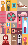 People vector collage