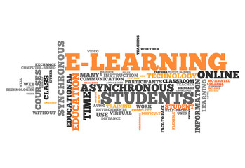 """Word Cloud """"E-Learning"""""""