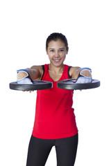 sport girl doing exercise