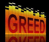 Greed concept. poster
