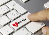 Fototapety I love Warsaw. Keyboard