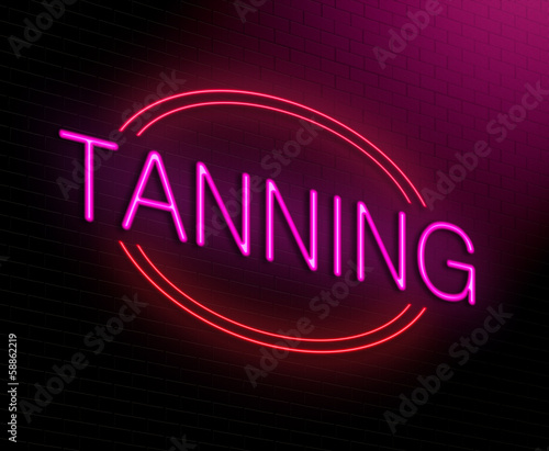 Tanning concept.