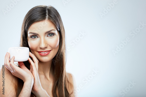 Skin care face woman portrait. Beauty concept.