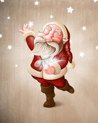 Santa Claus collects stars