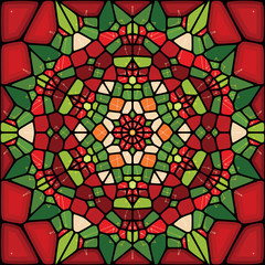 Voronoi abstract christmas background