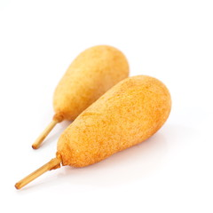 Duo of corn dog