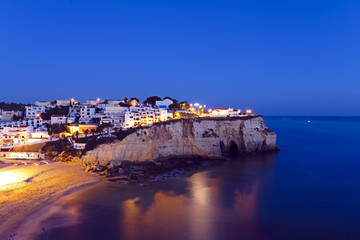 Carvoeiro in the Algarve Portugal at night