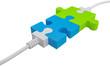 Puzzleteile Verbindung farbig