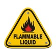 triangle sign - flammable liquid