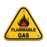 triangle sign - flammable gas