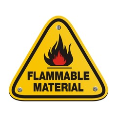 triangle sign - flammable material