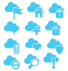 Cloud icon set web