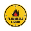 round sign -flammable liquid