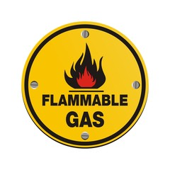 round sign - flammable gas