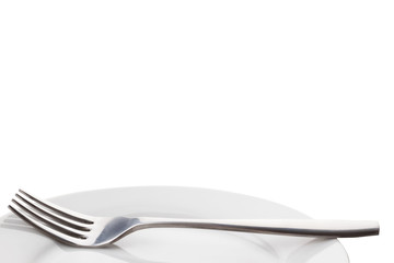 fork on plate