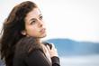 Sad feelings shivery woman