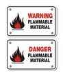 rectangle signs - warning and danger flammable material