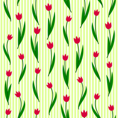 Tulips ornament pattern