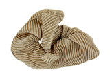 Beige Scrunchy Hair Holder