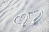 Snow heart shape