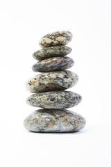 Stones balance isolated on white
