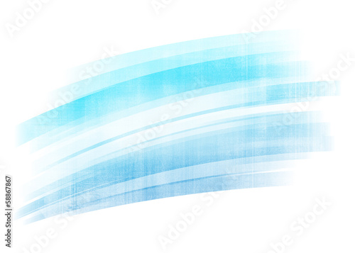 Blue painted brush stroke background