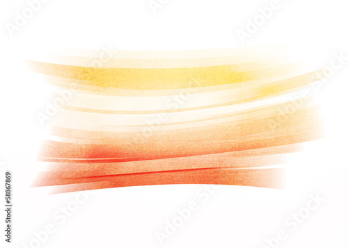 Orange painted brush stroke background
