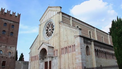 VERONA, ITALY - CIRCA NOVEMBER 2013: Cathedral of San Zeno