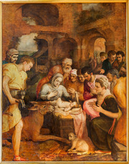Antwerp - Adoration of pastores by Frans Floris in cathedral