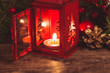 Red christmas candlestick - 58868808