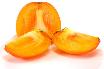 ripe persimmon cut