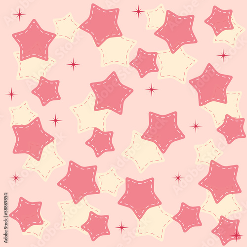 Pinr stars background vector illustration
