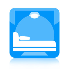 Bed room or hotel room icon