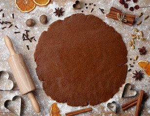 Gingerbread baking dough