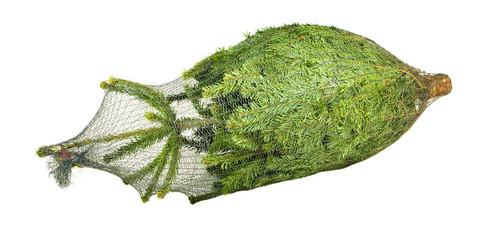 Eingepackter Weihnachtsbaum