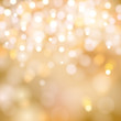 soft golden Christmas lights - festive bokeh background