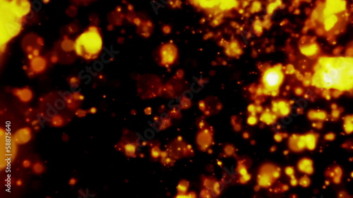 Abstract golden particles HD 1080 seamless loop