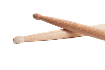 Chipped drumstick on white background