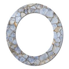 Font stone wall texture alphabet O